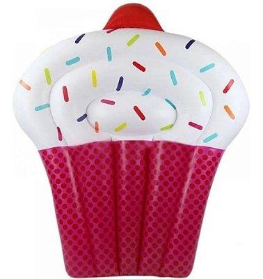 Boia Colchão Inflável Cupcake Bolo P/ Piscina Rosa