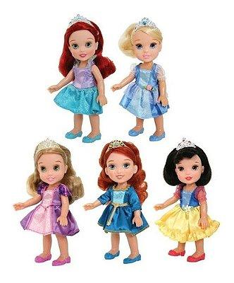 Kit 5 Bonecas - Disney Mini Princesas - Ariel - Merida E + 3
