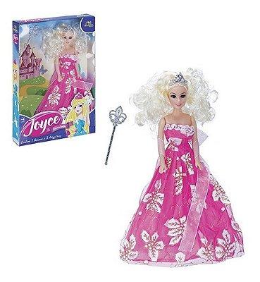 Boneca Infantil Joyce Princesa Encantada Brinquedo Realista