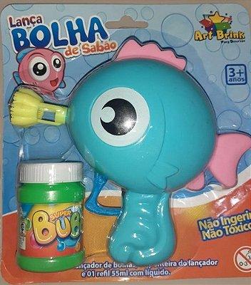 Lança Bolhas De Sabão - Peixe - Fazendo Bolinha - Azul