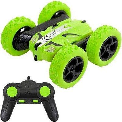 Carrinho De Controle Remoto 4x4 Acrobacias Giro Radical - Verde