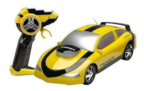 Carrinho De Controle Remoto Garagem S.a Trigger 7 Funçôes - Amarelo