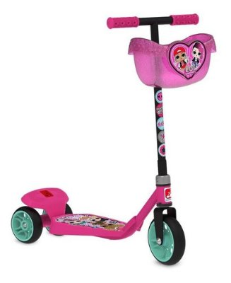 Patinete Infantil Lol Surprise Rosa Base Larga + Cesto