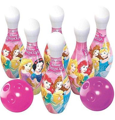 Jogo Boliche Princesas Disney Rosa Menina 6 Pinos Lider