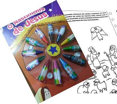 Livro Ciranda Das Cores - O Nascimento De Jesus Com Giz Cera