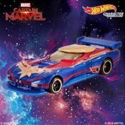 Carrinho Hot Wheels Carro Capitã Marvel - Edição Especial