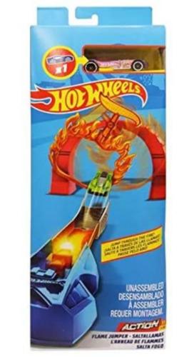 Pista E Veículo Hot Wheels Track Builder Torre Elétrica Sortido