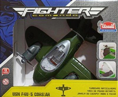 Avião Fighter Comando Janelas Abre E Turbinas Articuladas
