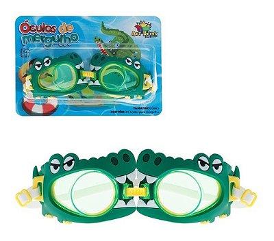 Oculos De Mergulho Crocodilo Infantil Verde Com Fecho
