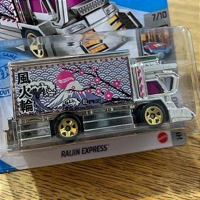 Carrinho Hot Wheels - Raijin Express -grx49 Rosa Edição 2021