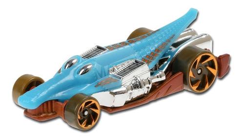 Carrinho Hot Wheels Crocodilo - Croc Rod Azul Edição Montros