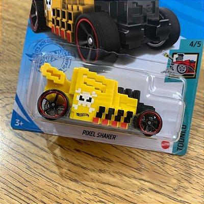 Carrinho Hot Wheels Pixel Shaker - Amarelo Edição 2021