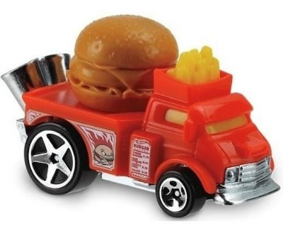 Carrinho Hot Wheels Buns Of Steel Hambúrguer Ed Fast Foodie - Vermelho