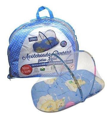 Mosquiteiro Portátil - Conforto e Proteção Para O Bebê Azul