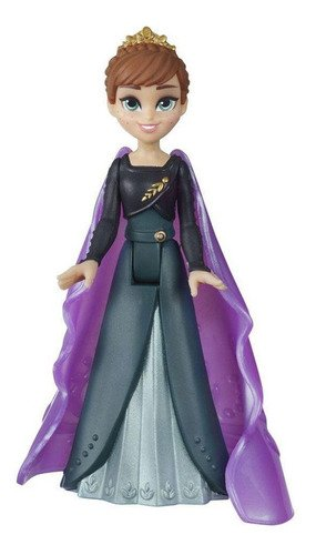 Mini Boneca Básica 10 Cm Disney Frozen 2 Rainha Anna Magica