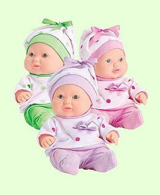 Kit 3 Boneca Mc Bee Mini Babies Cheirinhos De Frutas Fofas