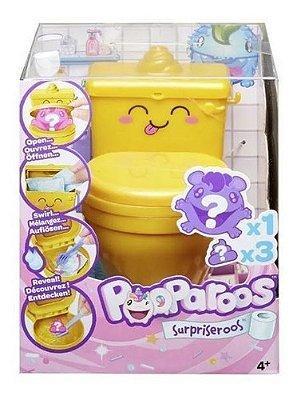 Mini Figura Surpresa Pooparoos Toilet Amarelo Fofo Colorido