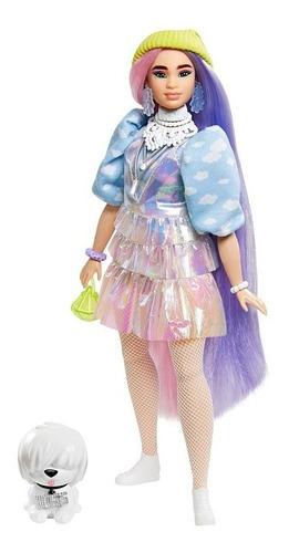 Boneca Barbie Extra Oriental Curvy 2021 Cabelo Colorido Cpet