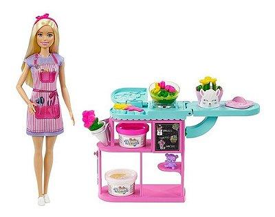 Boneca Barbie Loira Loja De Florista C Massinhas Edição 2021