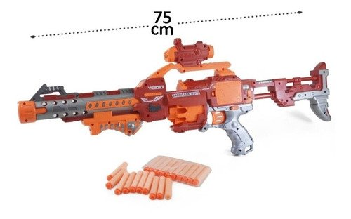 Arminha Metralhadora Lança Dardos Semi-automatica 75 Cm Larg