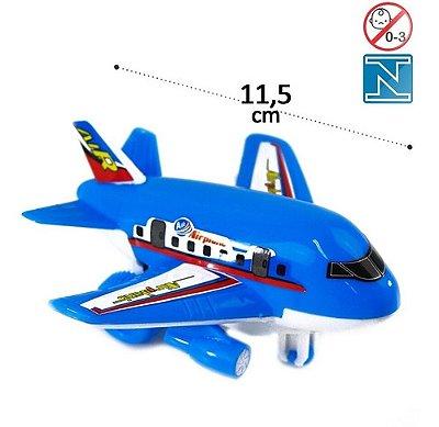 Avião Aviãozinho Plástico De Brinquedo Movido A Fricção