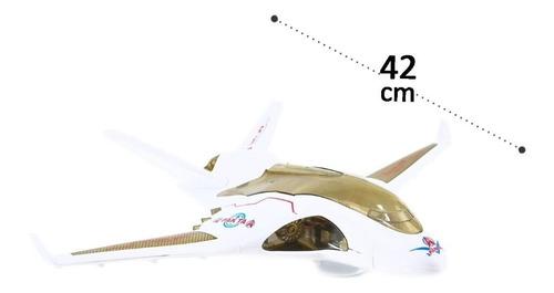 Avião De Brinquedo Com Luz E Som E Gira 360grau Bate E Volta