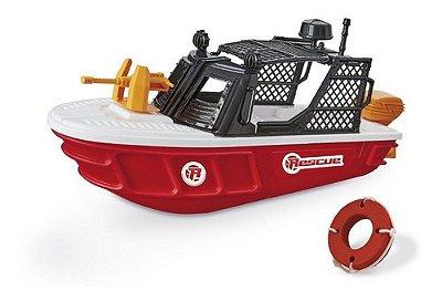 Barco De Brinquedo Infantil Rescue Team De 52 Cm