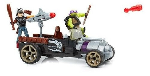 Bloco De Montar - Carro De Corrida Tartaruga Ninja 126 Pçs