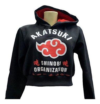 Blusa Moletom Naruto Akatsuki Aldeias Renegadas Com Capuz - G