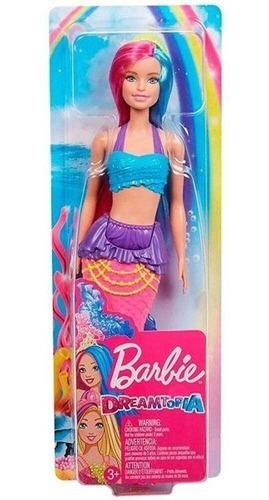 Boneca Barbie Dreamtopia Sereia C/ Cabelo Azul E Roxo Magica