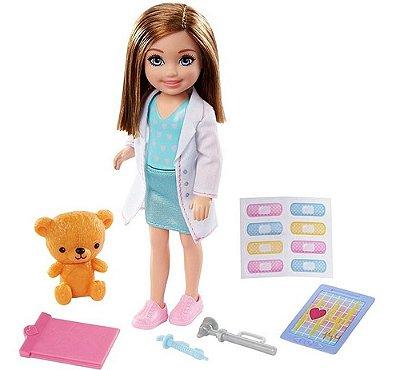 Boneca Barbie Playset Chelsea Prosissões Medica Veterinária