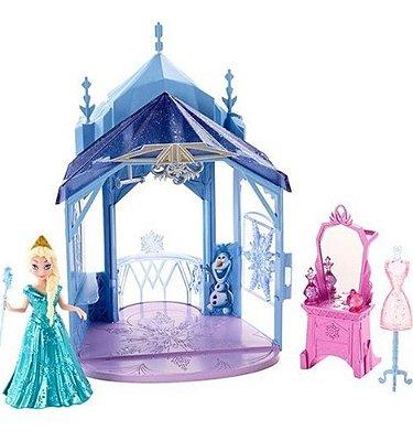 Boneca Disney Frozen Mini Castelo Quarto Da Elsa 2 Em 1