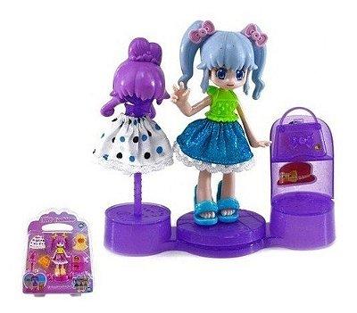 Boneca Lilly Fashion Coleção Infantil - Versão Anime Azul