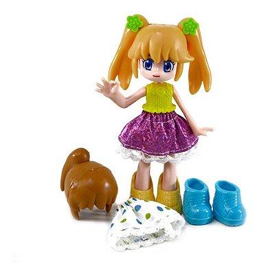 Boneca Lilly Fashion Coleção Infantil - Versão Anime Loira