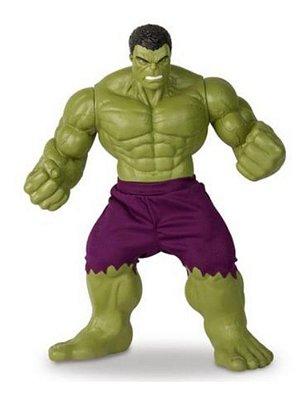 Boneco Hulk Marvel Verde Gigante 45 Cm De Altura Articulado
