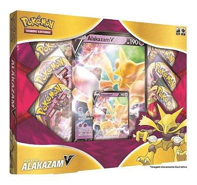 Box Pokémon Coleção Alakazam V Copag Cards Cartas Português