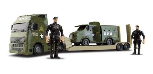 Caminhão Comandos Blindado Militar C/ Furgão Forças Especial