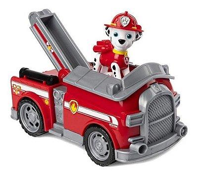 Carrinho Com Boneco Do Marshall Fire Engine Patrulha Canina