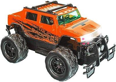 Carrinho De Controle Remto Picape 4x4 Trucks Radicais - Laranja