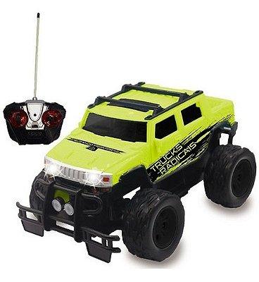 Carrinho De Controle Remto Picape 4x4 Trucks Radicais - Verde