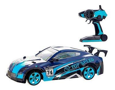 Carro De Controle Remoto 4x4 A Bateria Multi Direcional Drif - Azul
