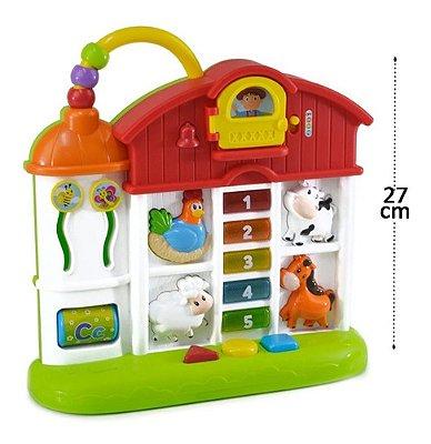Casinha Divertida Baby Musical Brinquedo Educativo Para Bebê