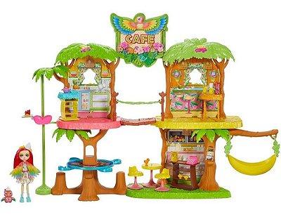 Castelo Enchantimals - Playset Café Na Selva Com Boneca