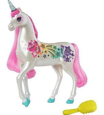 Cavalo Barbie Dreamtopia Unicórnio Brilhante Com Luzes