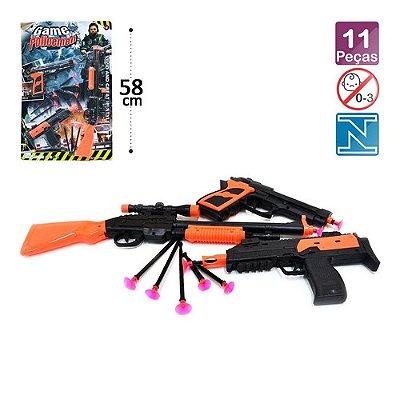 Kit 3 Arminhas 2 Pistola E 1 Sniper Lança Dardos 11 Peças