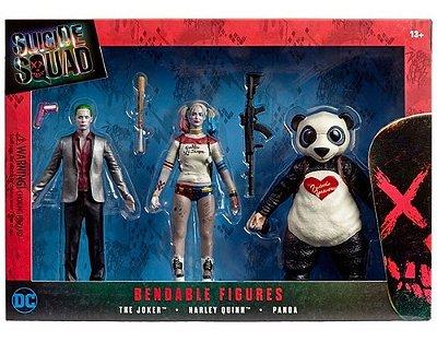 Kit 3 Bonecos Figuras Esquadrão Suicida - Bendable Figures