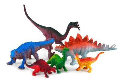 Kit 6 Dinossauro De Brinquedo Kit Coleção D Borracha Sortido