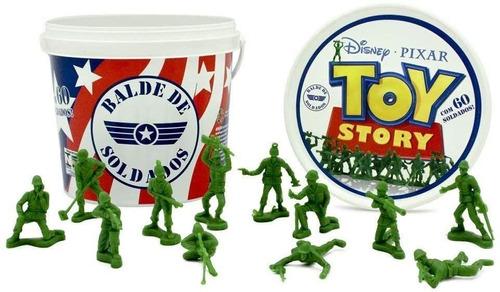 Kit Balde De Soldados - 60 Soldadinhos Disney Toy Story