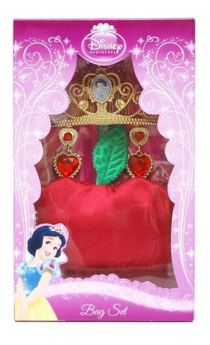 Kit Disney Com Tiara Bolsa E Brincos Princesa Branca De Neve
