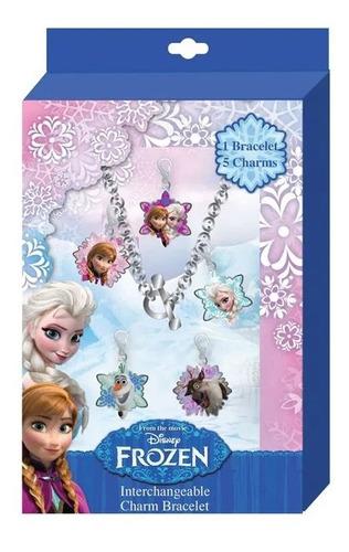 Kit Pulseira De Metal Com Pingente - Disney Frozen - Disney